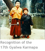 Recognition of the 17th Gyalwa Karmapa